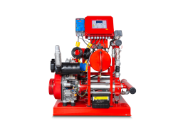 Horizontal Electric Pump Mounted To Firefighting Booster With Alarm Warning System