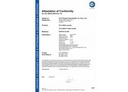 CE Belgesi (ECP-25-10-180- Serisi Sirkülasyon Pompası)