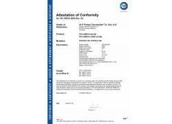 CE Belgesi (ECP 25 Serisi Sirkülasyon Pompası)