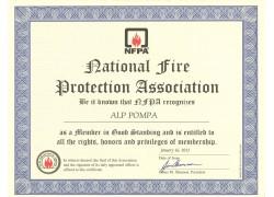 NFPA Üyelik Belgesi